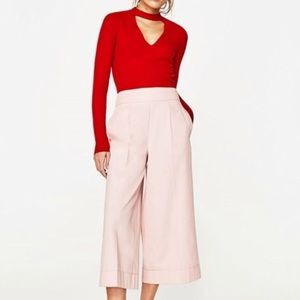 Zara Ribbed Choker Shirt